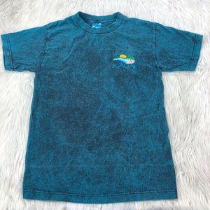 Vintage Embroidered Acid Wash Hawaii T-Shirt